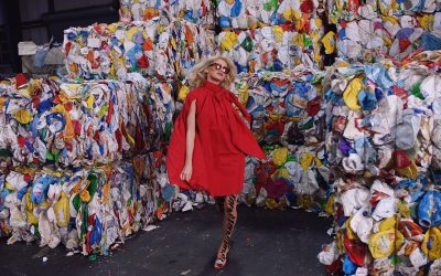 Derby's Grant Greenberg Pairs Models with Recyclables in Fashion Film for V Magazine